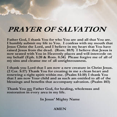 Is salvation a prayer